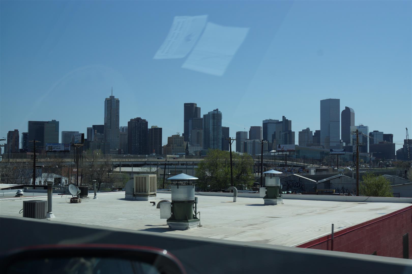 Denver Downtown aus der Ferne.