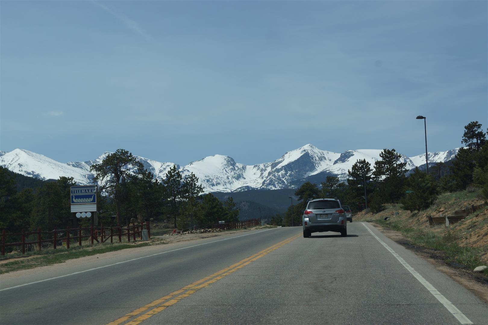 Auf dem Weg zum Rocky Mountain Nationalpark.