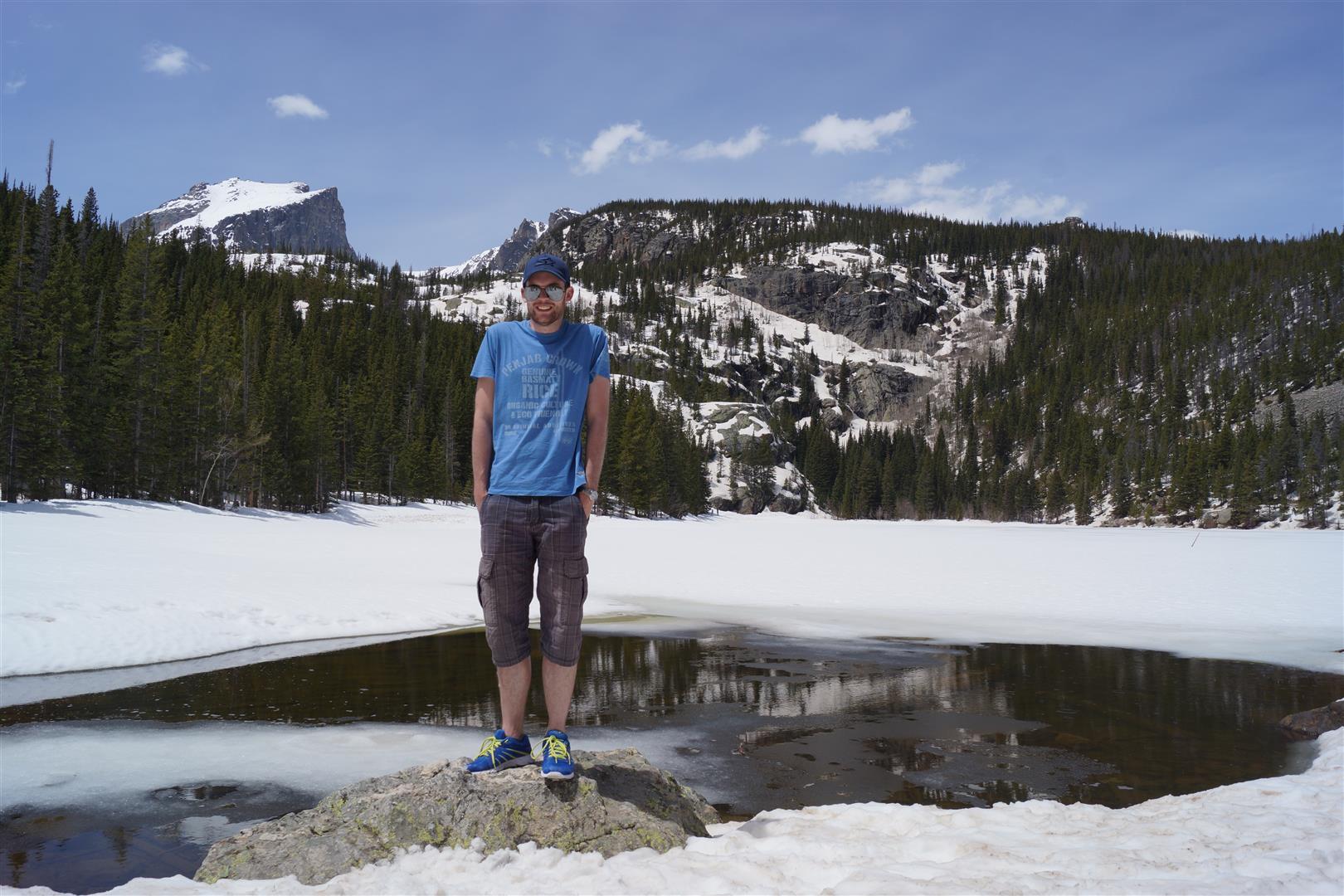 Und am gefrorenen Bear Lake war's auch gar nicht kalt!