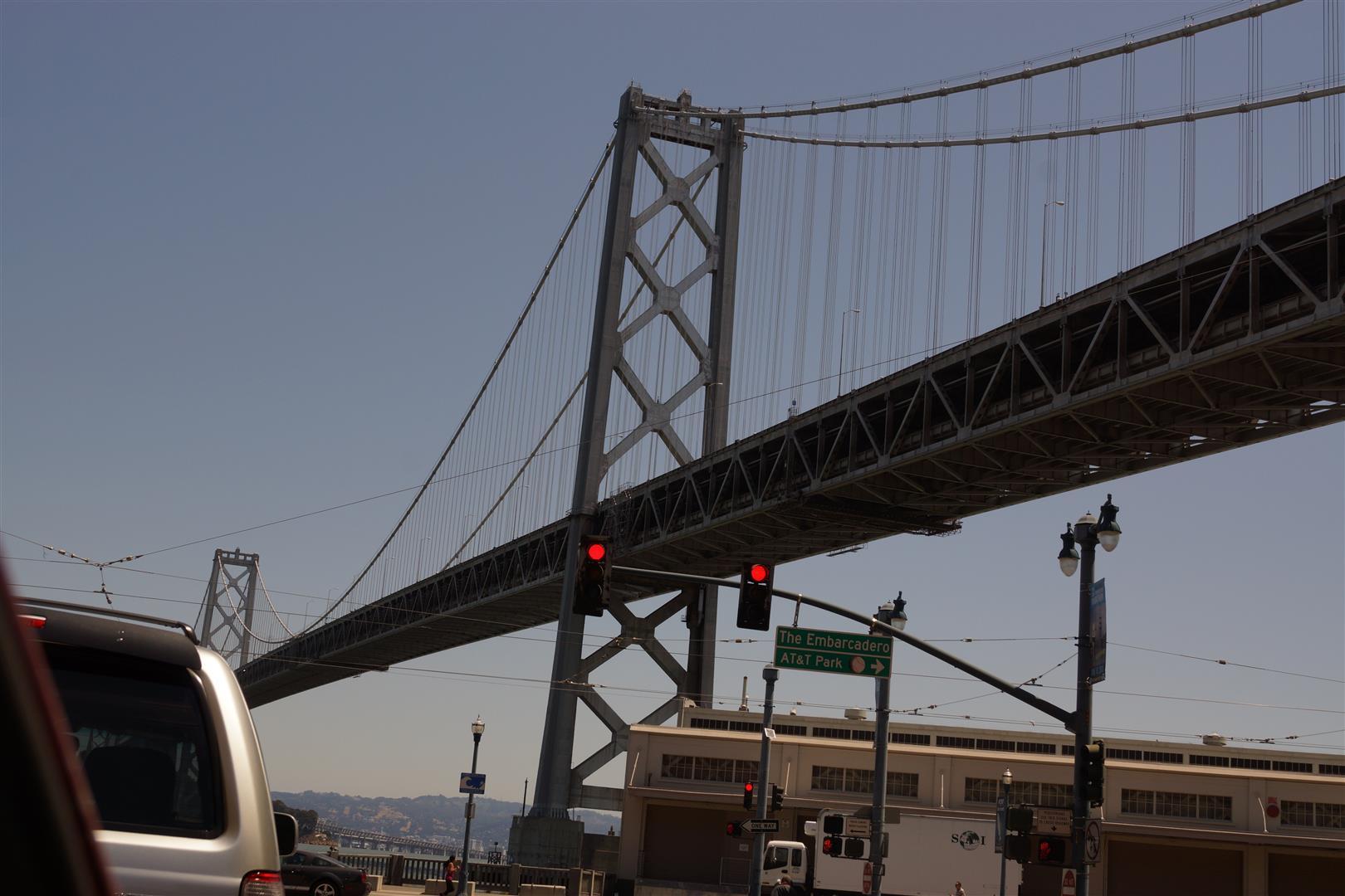 Nicht die Golden gate, aber die erste Brücke über die wir nach SF gelangt sind.