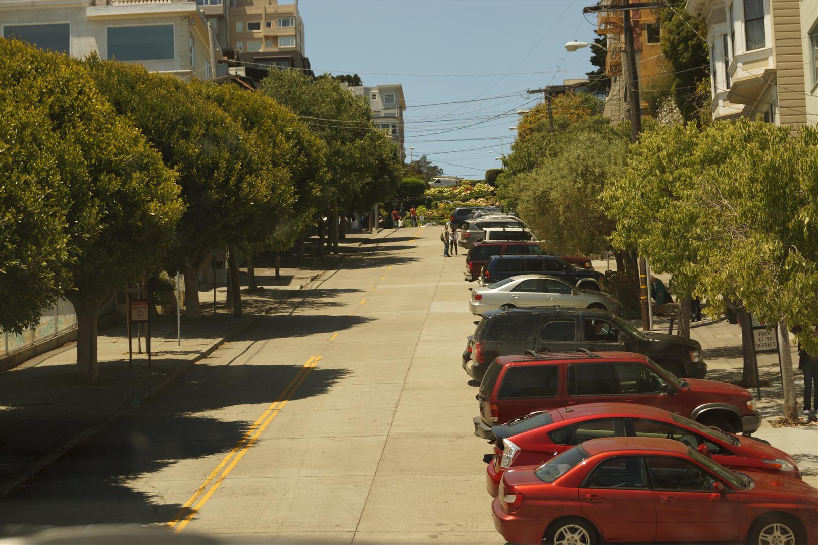 Die Lobard Street. Kurz vor den Serpentinen.