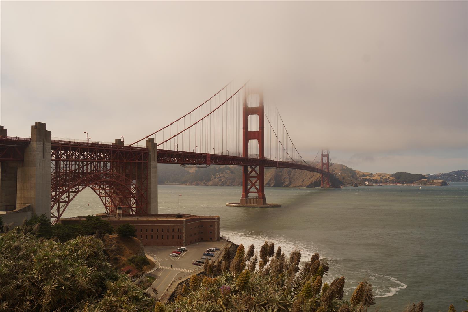 Die Brücke in voller Pracht! (außer der Spitze... aber leider das beste Foto, das wir machen konnten.)