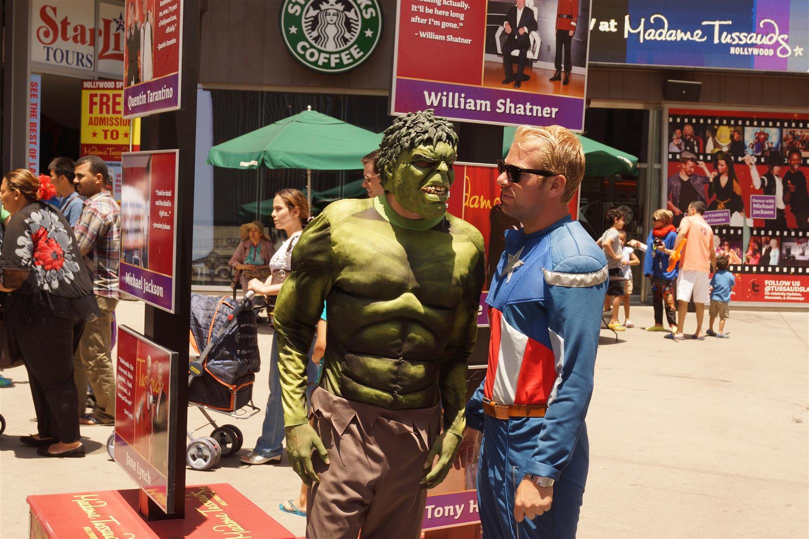 Hulk und Captain America waren dagegen weniger überzeugend...