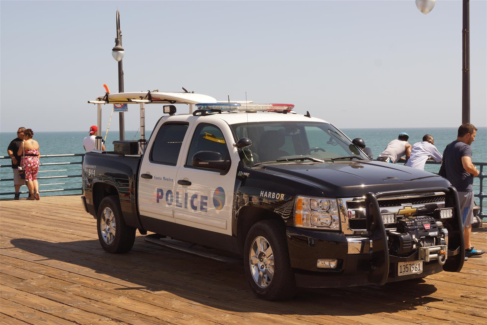 Mit Santa Monica Police Truck - auf Hochglanz poliert.