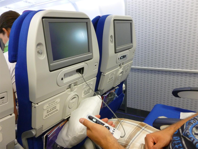 Für mediale Unterhaltung auf dem Flug war gesorgt!
