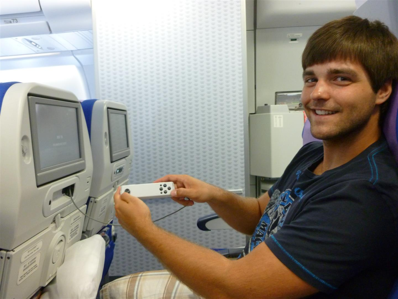 Und wie sich das für eine chinesiche Airline gehört, natürlich auch mit Spielkonsole!
