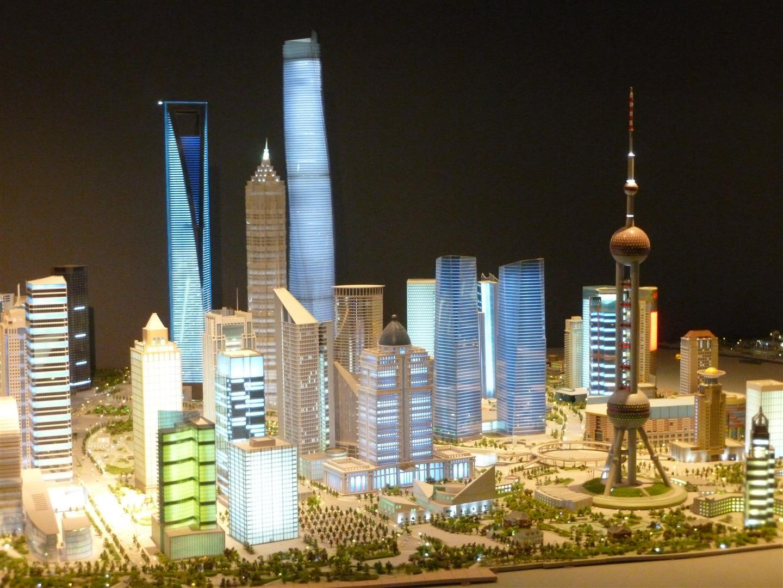 Da wir Shanghai leider nicht bei Nacht betrachten konnten, hier ein Bild, wie es im Modell ausschaut.