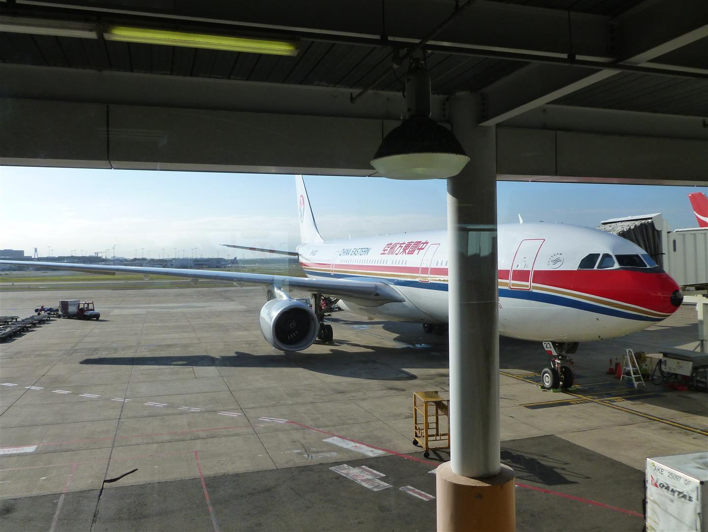 Unser schönes Flugzeug für den Weiterflug nach Sydney. Innen leider nciht ganz so luxuriös wie unser erster Flieger!
