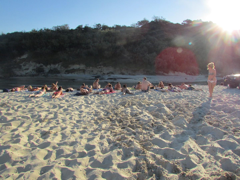 Dann gab es noch viel Sonnenbaden an Flüssen...