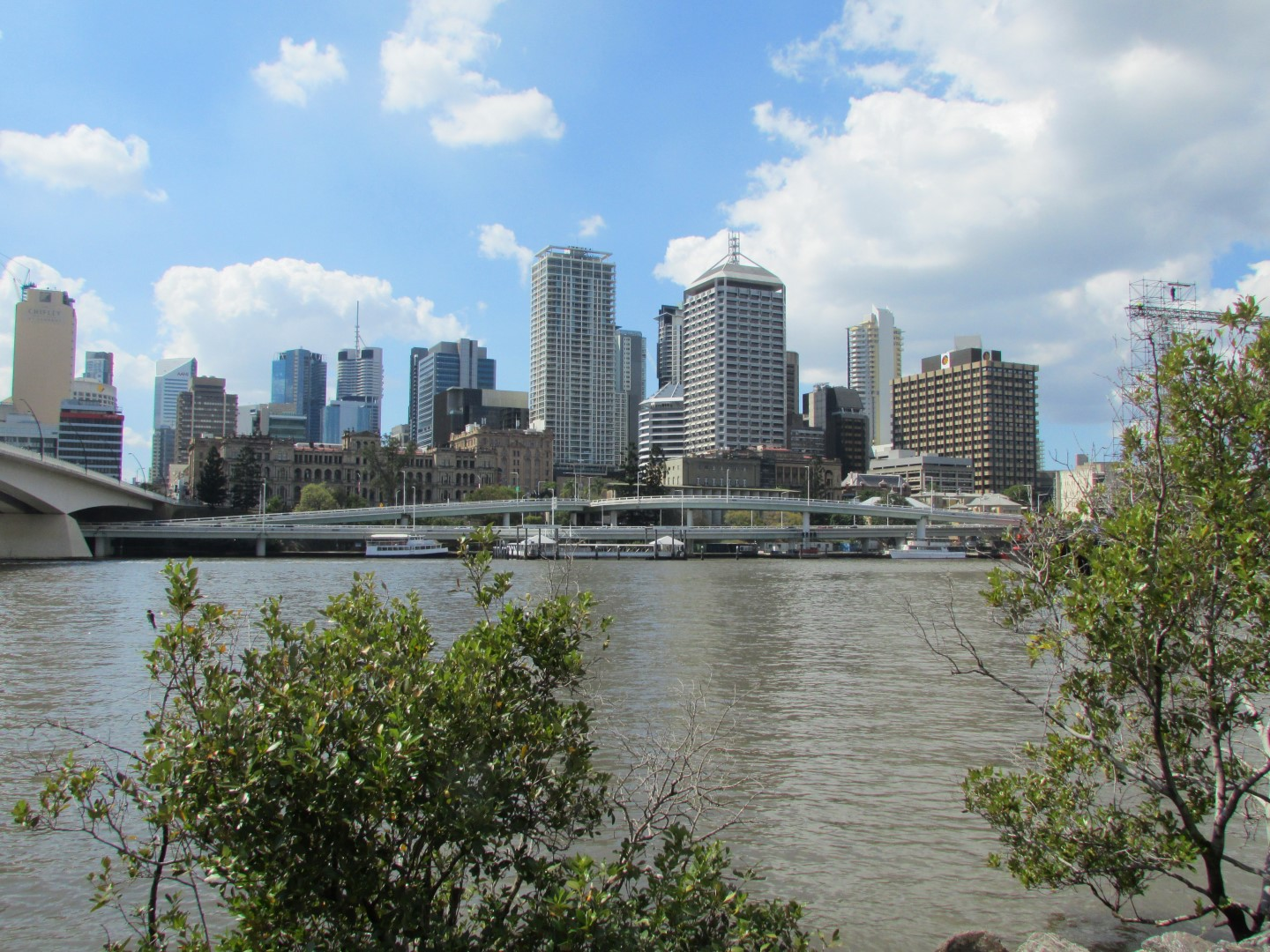 Skyline von de South Bank aus.