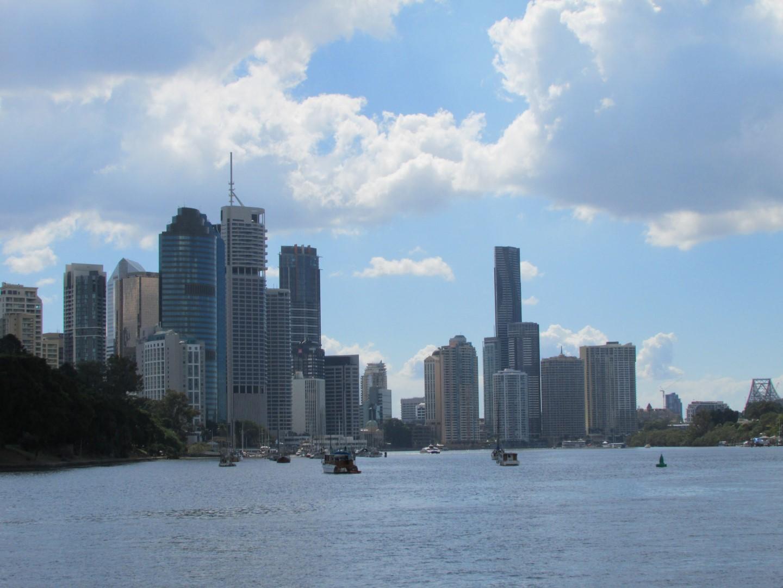 Und Skyline vom Boot aus.