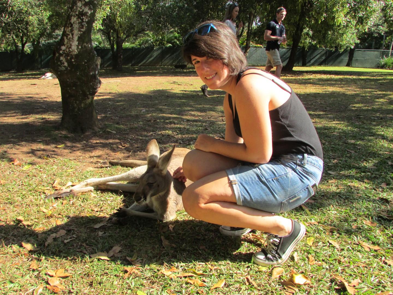 Australischer Einwohner und australischer Ureinwohner.